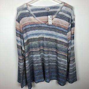 Avenue Long Sleeve V Neck Sweater NWT